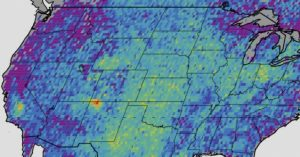 Methane Hot spot in Four Corners due to 20,000 oil & gas wells using fracking.