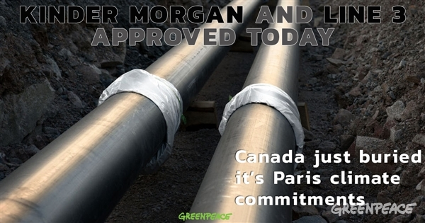 Trans-Mountain and Line 3 approval = another broken promise