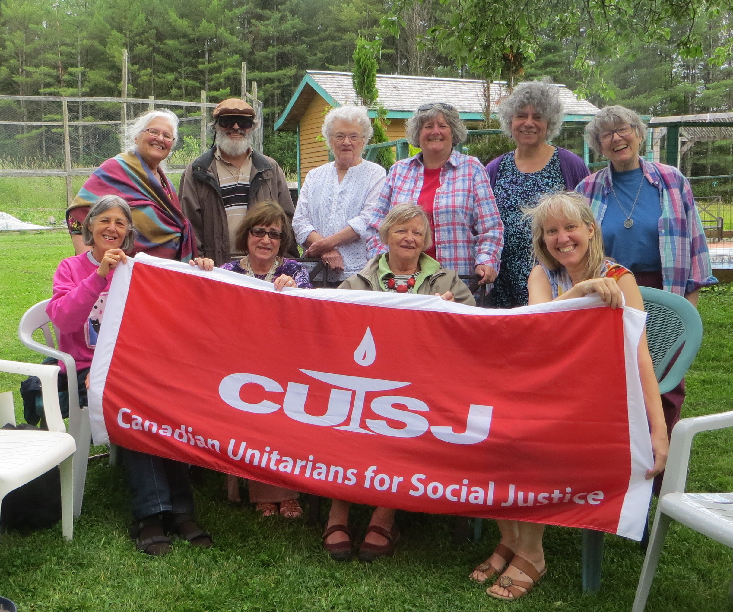CUSJ Québec Chapter at the UU Estrie picnic